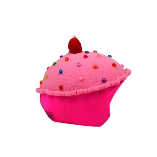 Funda casco Led Cup Cake Fresa derecha