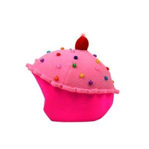 Funda casco Led Cup Cake Fresa izquierda