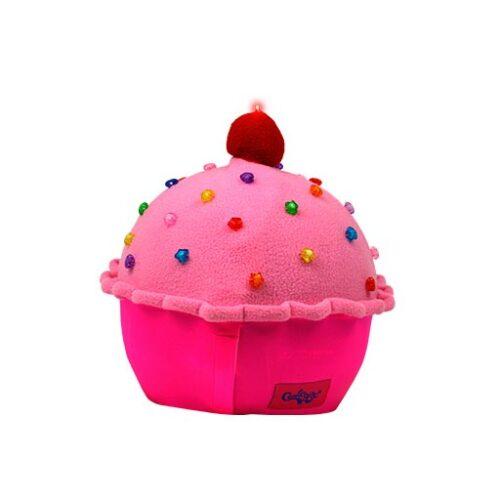 Funda casco Led Cup Cake Fresa trasera