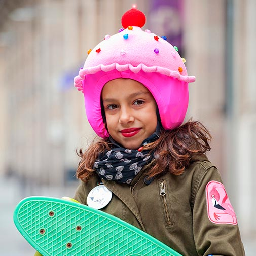 Funda casco Led Cup Cake Skate
