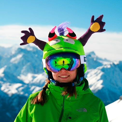 Funda casco Led Mr Higgins ski gafas