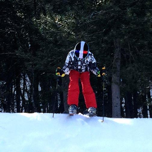 Funda casco Led Policia Ski salto