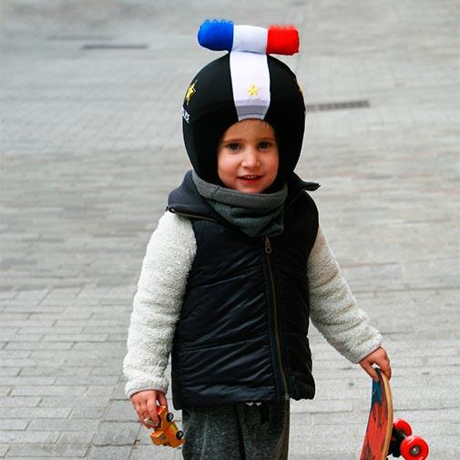Funda casco Led Policia monopatin