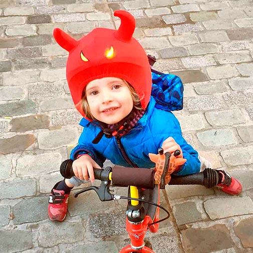 Funda casco Led demonio bike