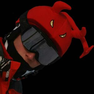 Funda casco Led demonio gafas