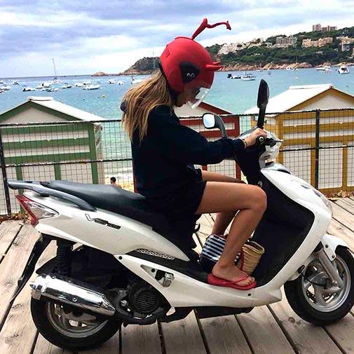 Funda casco Led demonio scooter