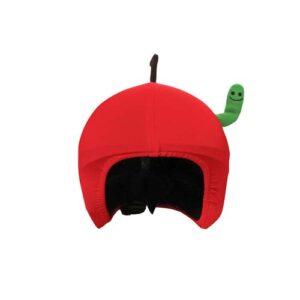 Funda casco Manzana con gusano Frontal