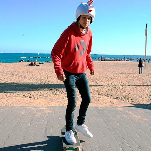 Dragón roji-blanco Bayern skate