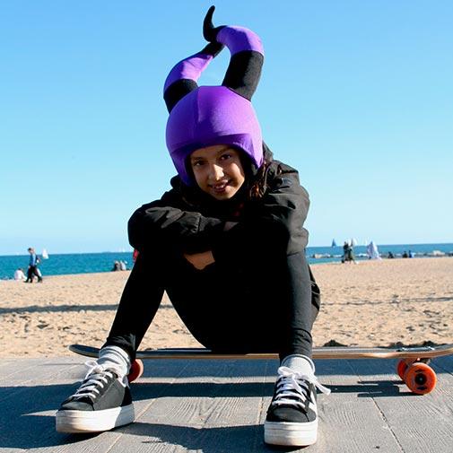 Funda casco Bruja Malvada skate