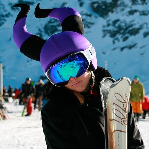 Funda casco Bruja Malvada ski gafas