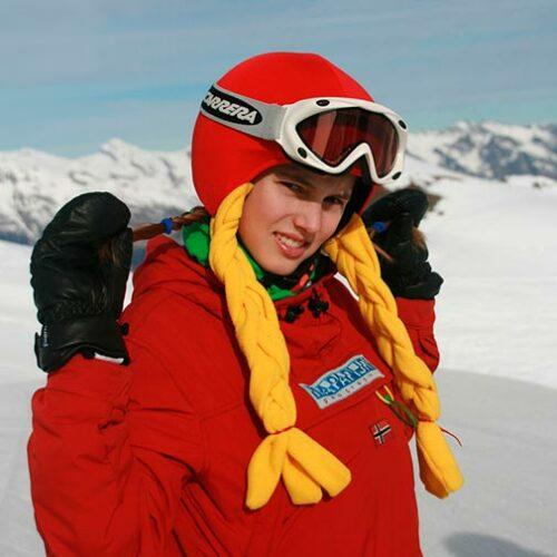 Funda casco Caperucita Roja ski