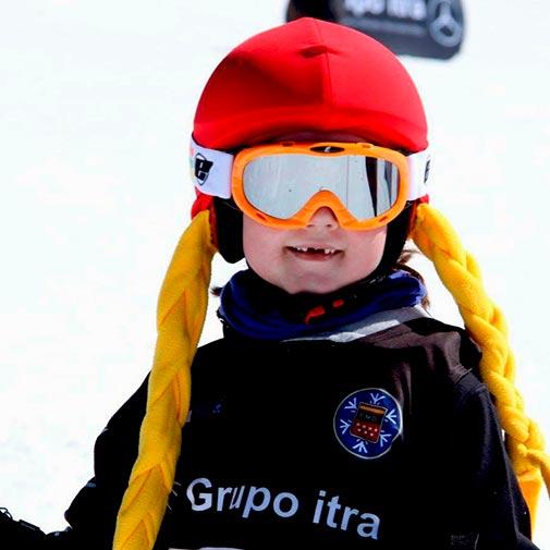 Funda casco Caperucita Roja ski niño