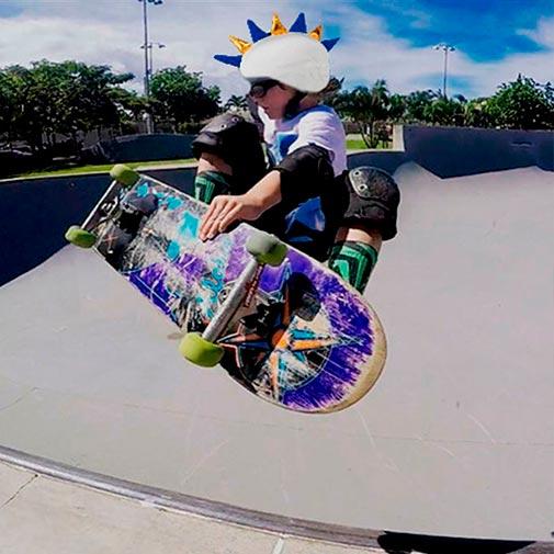 Funda casco Dragón merengue Skate