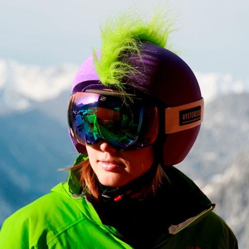 Funda casco Mohicana verde gafas