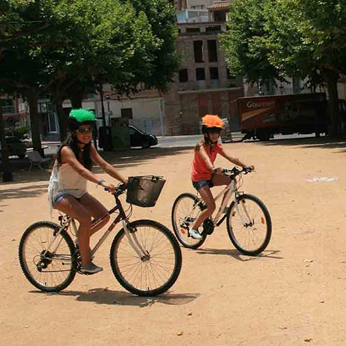 Funda casco Pelos Naranja Bike