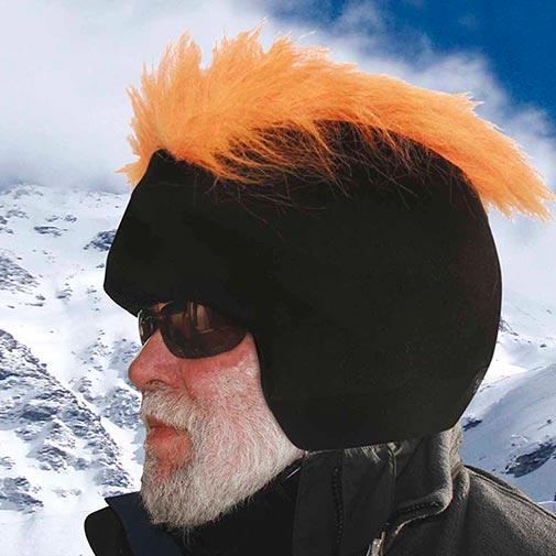 Funda casco Pelos Naranja gafas