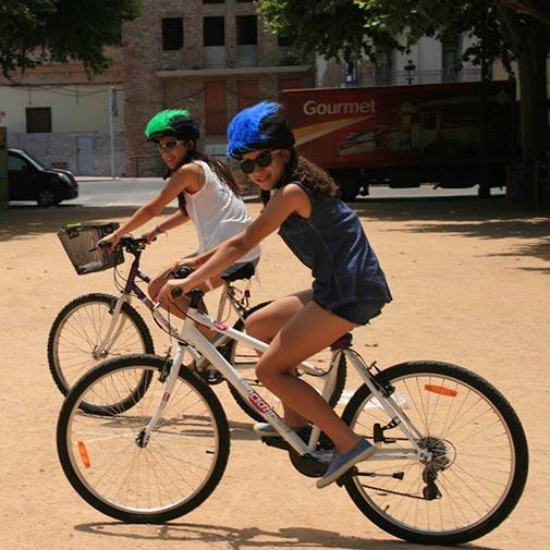 Funda casco Pelos azul Bike
