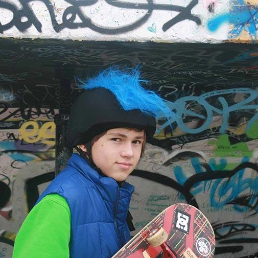 Funda casco Pelos azul Skate