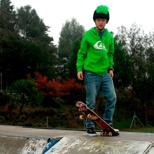 Funda casco Pelos verde Skate