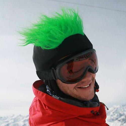 Funda casco Pelos verde ski