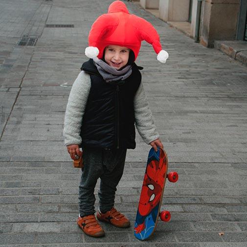 Funda casco Santa Clauss Skate