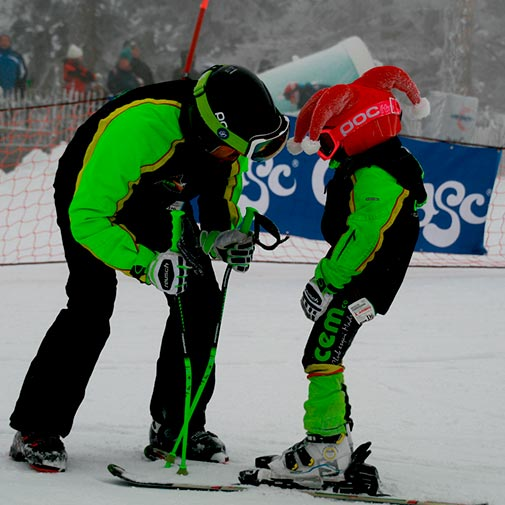 Funda casco Santa Clauss ski niño