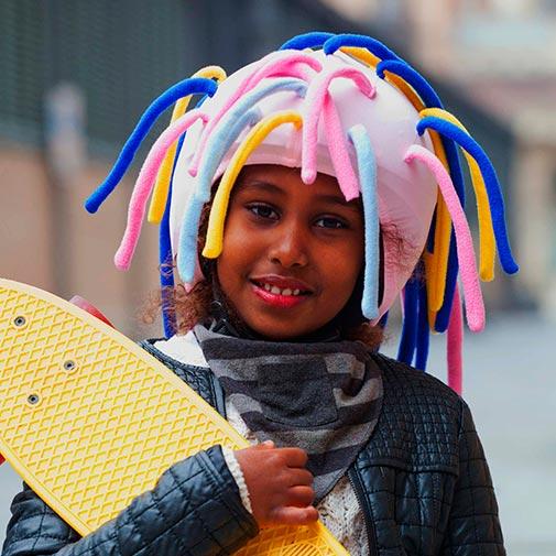 Funda casco Extensiones niña Skate