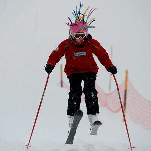 Funda casco Extensiones niña ski