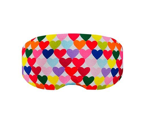Funda para gafas corazones de colores